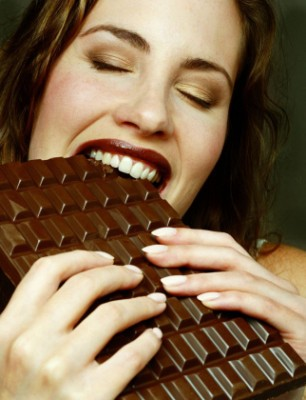 photo lady eating chocolate (306 x 400) These Are a Few of My Favorite Foods #nablopomo